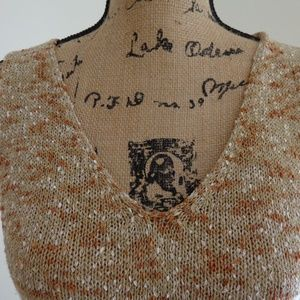 Evan Picone Tops - Evan-Picone Tan/White Knit Top sz M